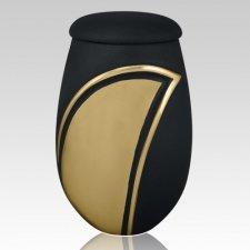 Black Wave Cremation Urn