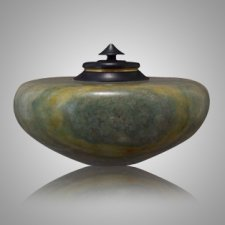 African Green Keepsake Cremation Urn