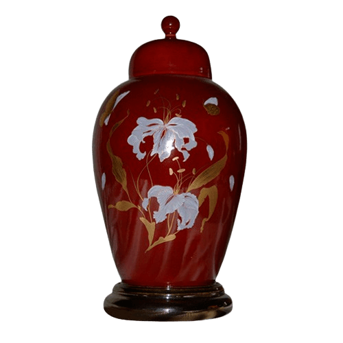 Orchid Red Ceramic Cremation Urns