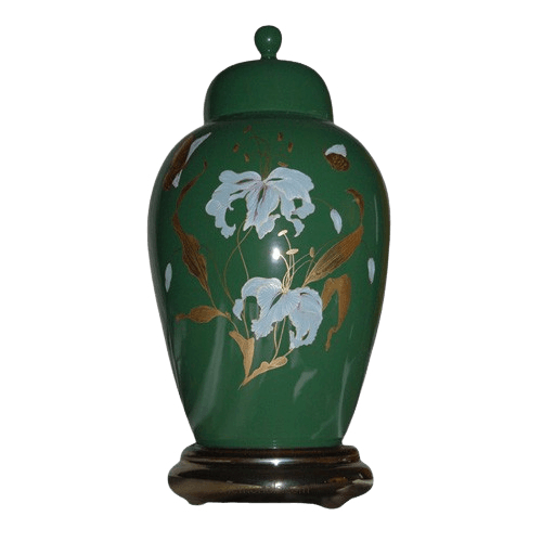 Orchid Green Ceramic Cremation Urns