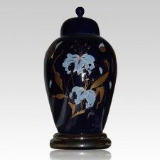 Orchid Blue Ceramic Cremation Urns