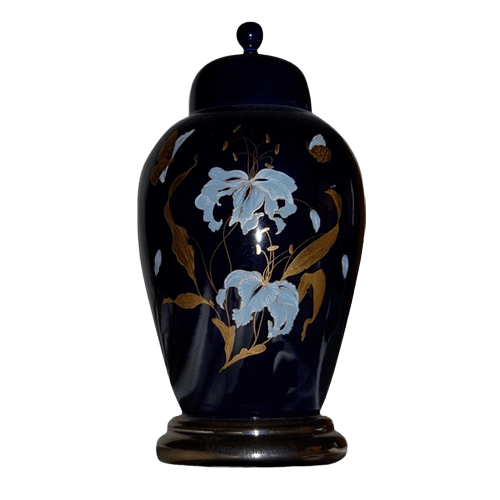 Orchid Blue Ceramic Cremation Urns