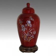 Iris Burgundy Pet Cremation Urns