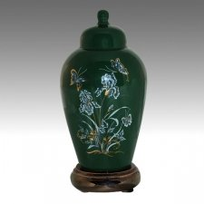 Iris Green Pet Cremation Urns
