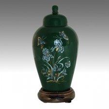 Iris Green Pet Cremation Urns