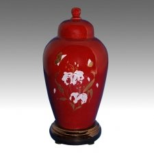 Red Pet Cremation Urn