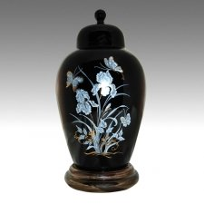 Iris Black Pet Cremation Urns