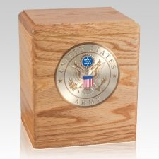Freedom Oak Army Urn