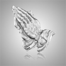 Praying Hands Silver Medallion Appliques