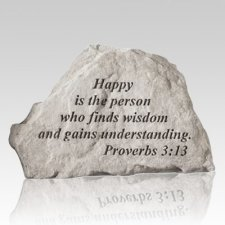 Happy Is The Person Keepsake Rock