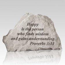 Happy Is The Person Keepsake Rock