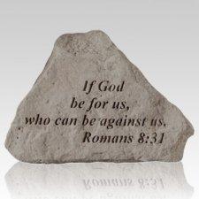 If God Be For Us Keepsake Rock