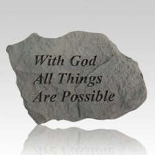 With God All Things Are Possible Rock