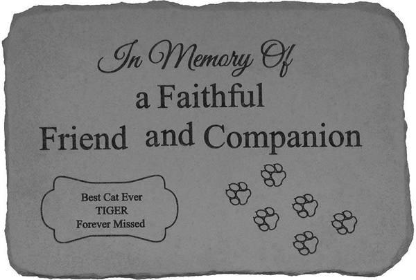 In Memory Of Cat Memorial Stone
