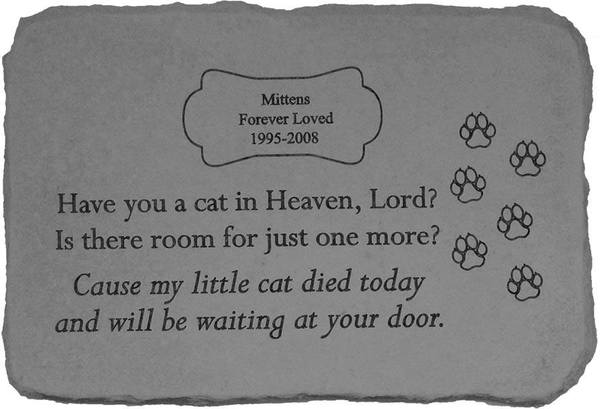 Have You A Cat In Heaven Memorial Stone