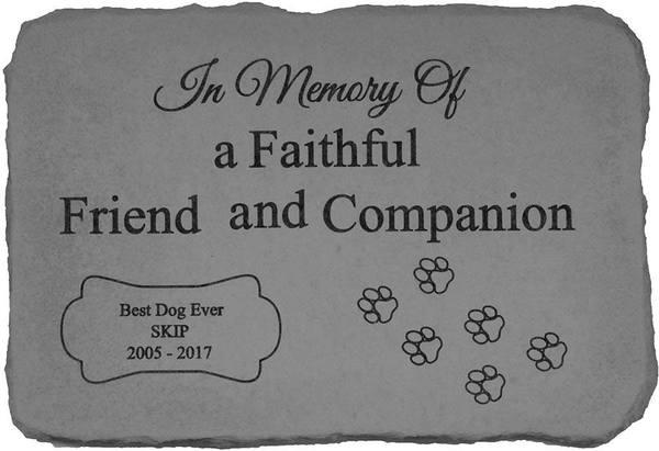 In Memory Of A Faithful Pet Memorial Stone