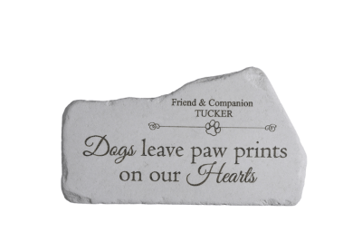 Dogs Leave Paw Memorial Stone