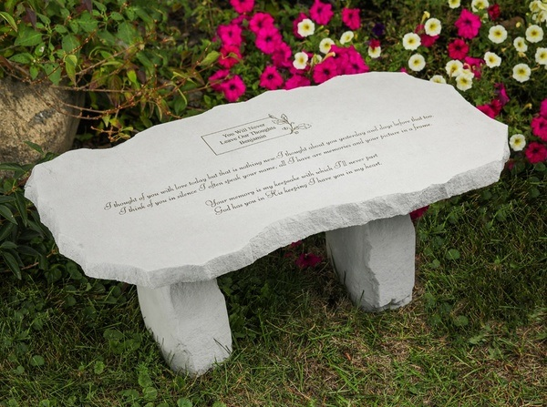 I Thought Of You Memorial Bench