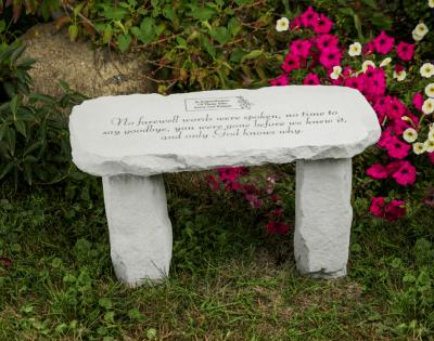 No Farewell Words Were Spoken Memorial Bench