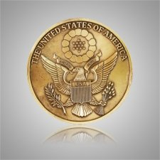Great Seal of America Coin Medallion Appliques