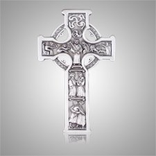 Celtic Cross Silver Medallion Appliques