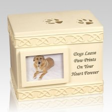 Dog Paw Print Cremation Urn