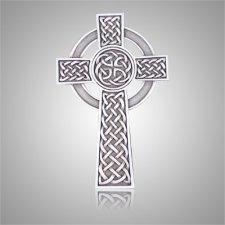 Knotted Celtic Cross Silver Medallion Appliques