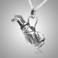 Golf Clubs Keepsake Pendant