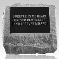 Marble Insert Pet Cremation Headstone