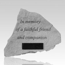 In Memory Of A Faithful Friend Companion Stone