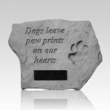 Paw Print Dog Memory Stone