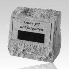 Gone Yet Not Cremation Stone Rock