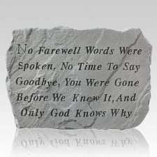 No Goodbye Pet Memory Stone