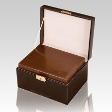 Precious Kingdom Leather Cremation Urn