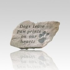 Dogs Leave Pawprints Memorial Stone