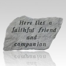 Here Lies A Faithful Friend Memorial Stone