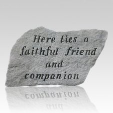 Here Lies A Faithful Friend Stone III