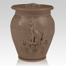 Kitty Black Bronze Ceramic Cremation Urn