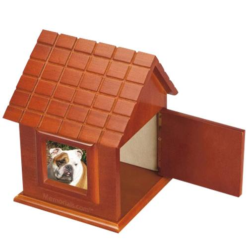 Dog House Picture Cremation Urn II