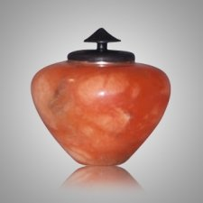 African Orange Keepsake Cremation Urn