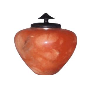 African Orange Keepsake Cremation Urn