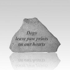 Dogs Leave Pawprints Keepsake Rock