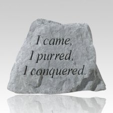 Purred & Conquered Pet Memory Stone