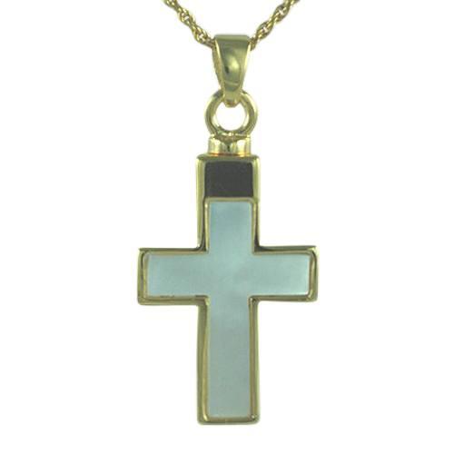 Pearl Insert Cross Cremation Keepsakes II
