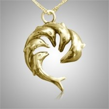 Dolphin Family Cremation Jewelry IV