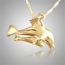 Daddy & Baby Dolphin Cremation Jewelry II