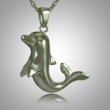 Happy Dolphin Cremation Jewelry