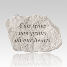 Cat Paw Prints Memorial Stone