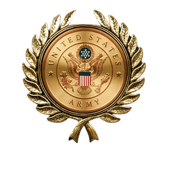 Wreath with Army Medallion Appliques