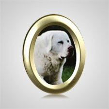 Small Oval Gold Pet Picture Frame